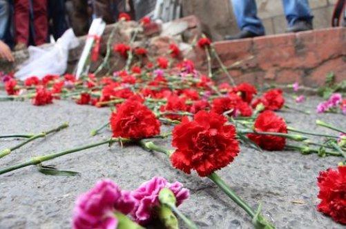 Taksim Kazancı Yokuşu'nda 1 Mayıs anması yapıldı