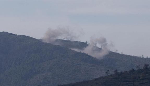 Türkmendağı yoğun bombardıman altında