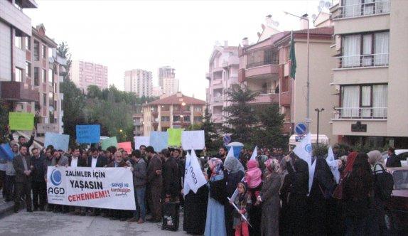 Nizami'nin idamı Ankara'da protesto edildi
