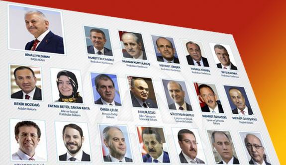 Binali Yıldırım yeni hükümetin bakanlarını açıkladı