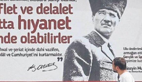 CHP'li belediyeden 'şeriat'lı afiş
