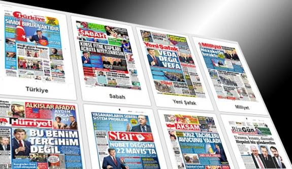 Davutoğlu 'vefalı, nezaketli vedası'yla manşetlerde