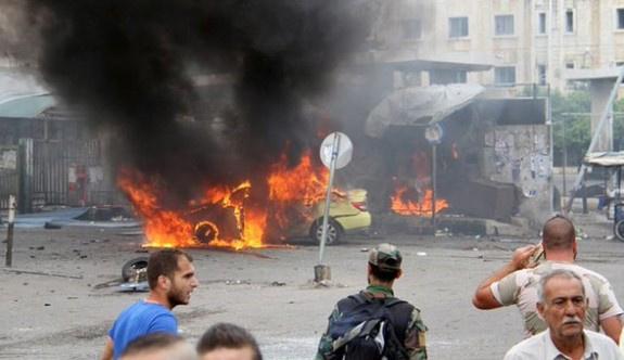 Esad'ın kontrolündeki bölgede art arda patlamalar