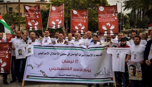 Gazze'de Filistinli tutuklular için gösteri