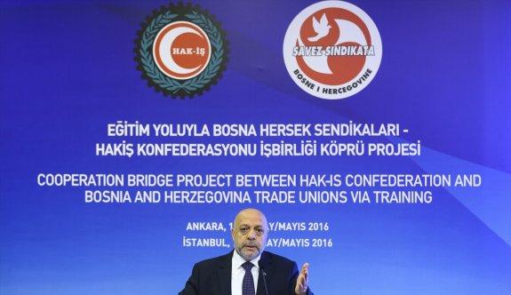 HAK-İŞ'ten Bosna Hersek sendikaları iş birliğinde