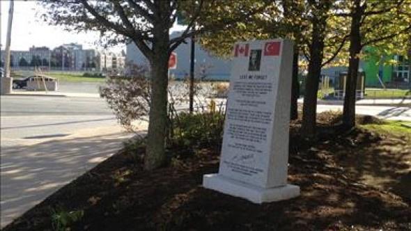 Kanada'ya Çanakkale Anıtı