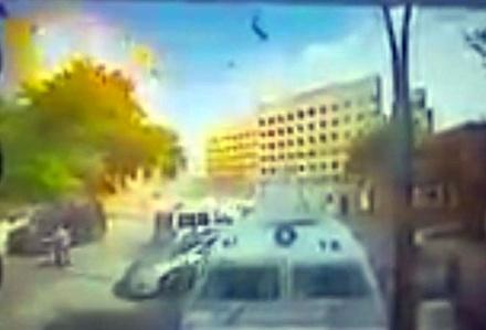 Patlama anını paylaşan polis açığa alındı
