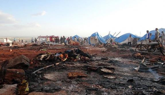 Savaş uçakları mülteci kampını vurdu: 27 ölü