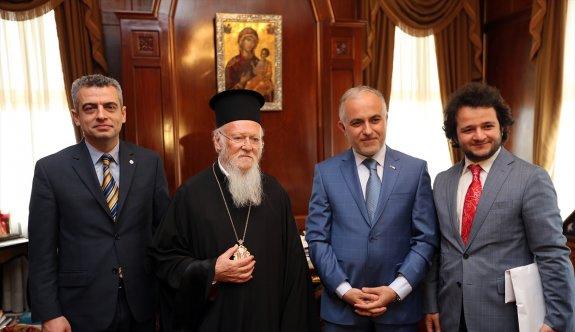 Türk Kızılayı Genel Başkanı Kınık'tan Patrik Bartholomeos'a ziyaret