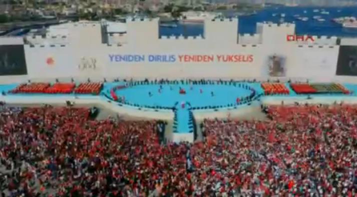 Yenikapı'da İstanbul'un fethi kutlamaları