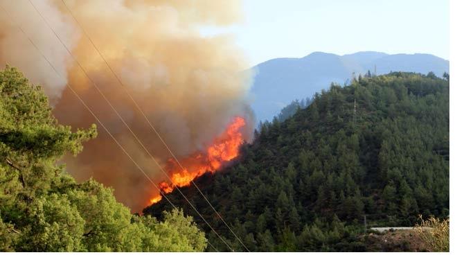 Antalya'daki ikinci yangın da kontrol altında