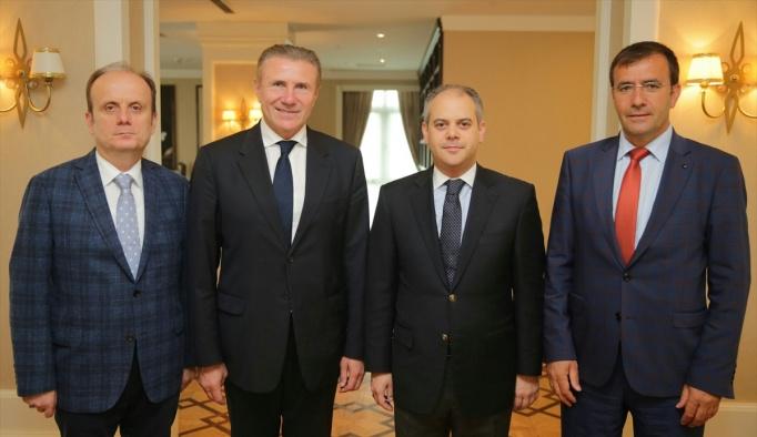 Bakan Kılıç, Sergey Bubka'yı kabul etti