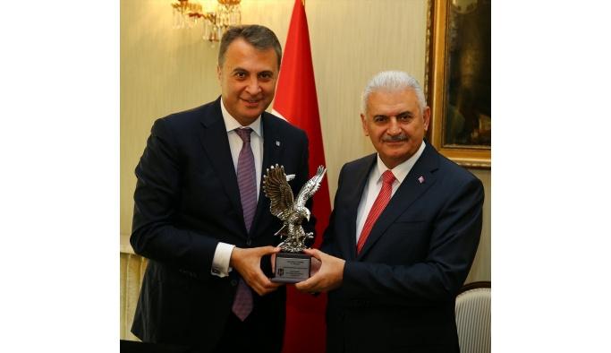 Başbakan Yıldırım, Beşiktaş Kulübü Başkanı Orman'ı kabul etti