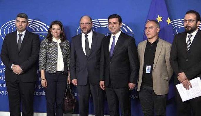 Demirtaş, Brüksel'de Schulz ve Mogherini ile görüştü