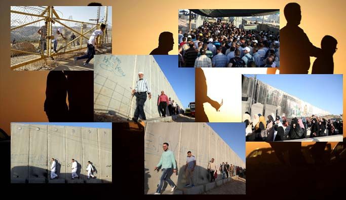 Duvarlardan, tellerden, engellerden Kudüs'e koştular!