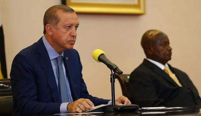 Erdoğan Uganda'da da BMGK'yı eleştirdi