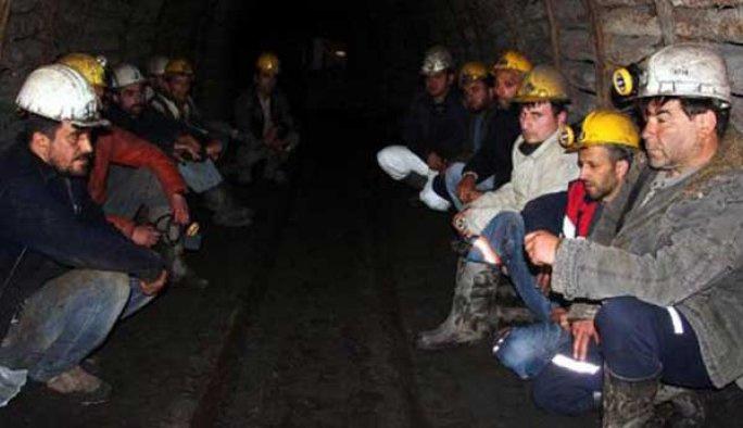 Eylemci madencilerin tamamı işten atıldı