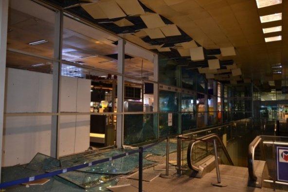 Havalimanındaki hasar FOTO