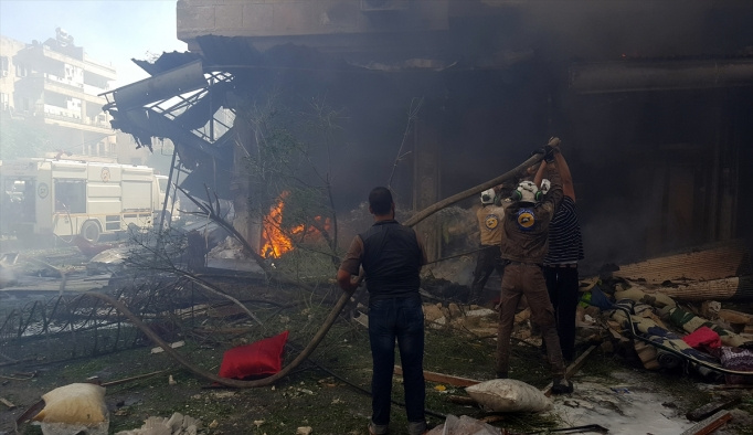 İdlib'e hava saldırısı: 7 ölü, 30 yaralı