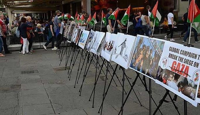 İsrail Avursturya'da protesto edildi