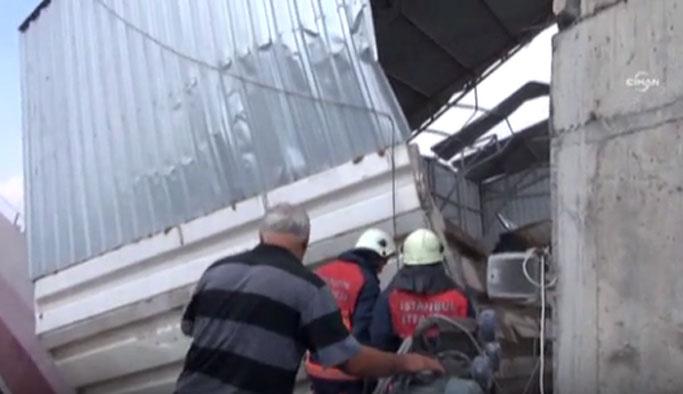 İstanbul'da santral çöktü, işçiler mahsur