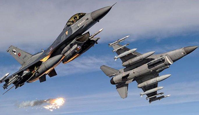 Lice'de PKK'lılar savaş uçaklarıyla vuruldu