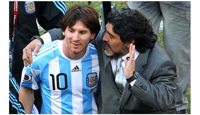 """Maradona'dan Messi'ye """"dön"""" çağrısı"""