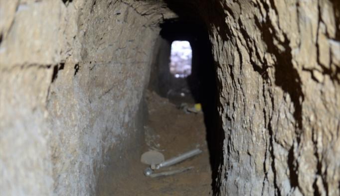 Nusaybin'de teröristlerce açılan tüneller imha edildi
