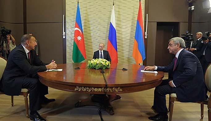 Putin, Aliyev ve Sarkisyan'ı buluşturdu