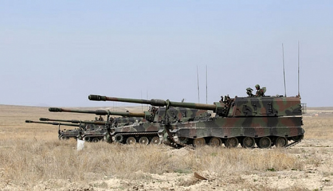 TSK, IŞİD hedeflerini fırtına obüsleriyle vurdu