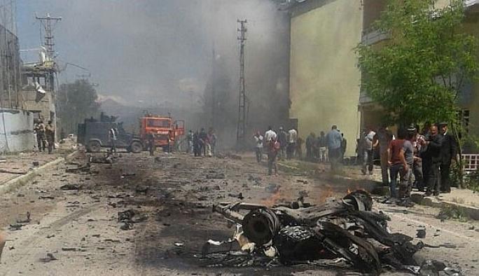Tunceli Ovacık'ta bombalı araçlı saldırı