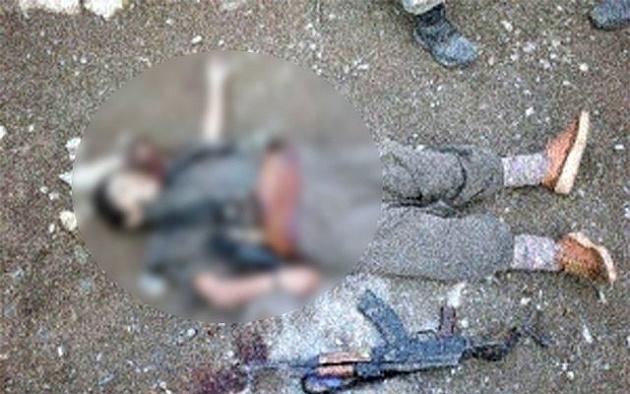 3 teröristin battaniyeye sarılı cesedi bulundu