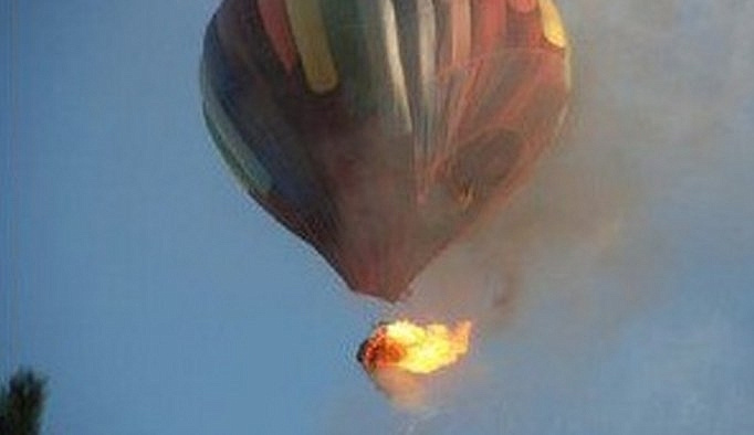 ABD'de düşen sıcak hava balonu