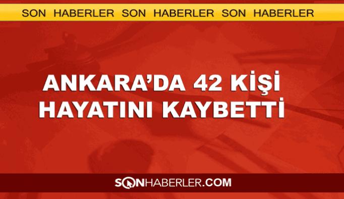 Ankara'daki kalkışmada 42 kişi öldü