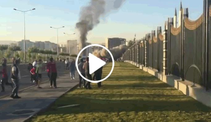 Ankara'ya bombalar yağarken VIDEO
