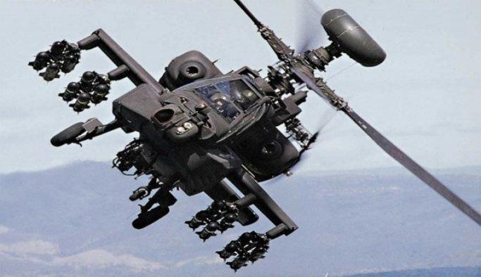 Apache tipi bir helikopterin Marib kentinde düşmesi sonucu 2 pilot öldü