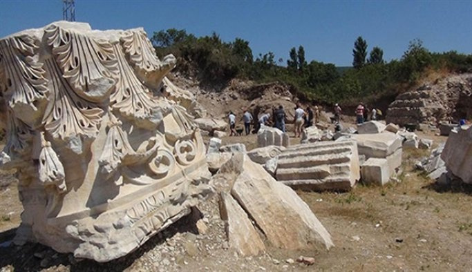 Balıkesir'deki Kyzikos Antik Kenti'nde kazı