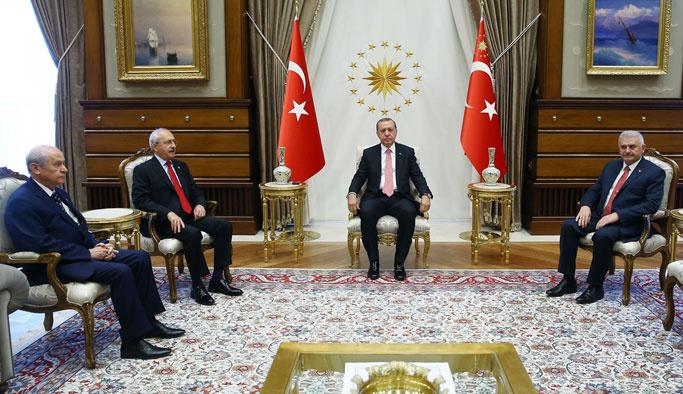 Beştepe'deki liderler zirvesi 2,5 saat sürdü