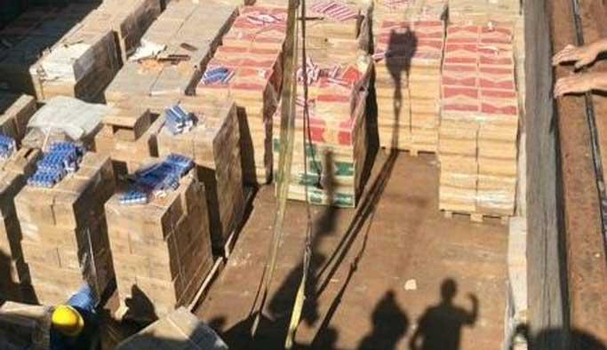 Boğaz'da 100 ton kaçak sigara ele geçirildi