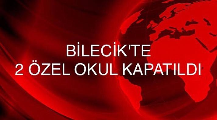 Bozüyük'te 2 okul kapatıldı