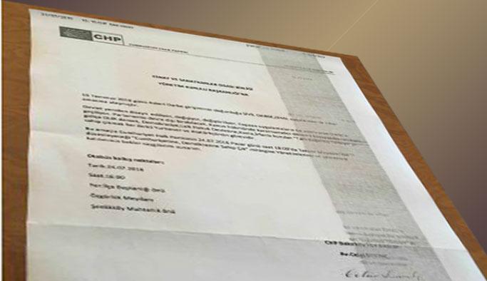 CHP ilçe örgütünden 'şok' davet