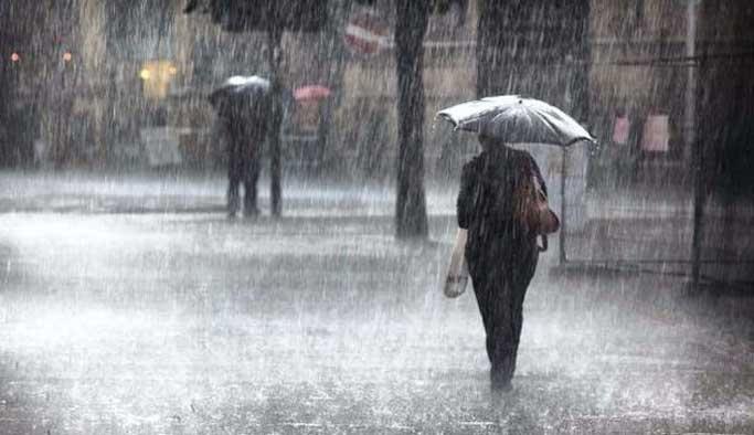 Dokuz şehir için kuvvetli yağış uyarısı