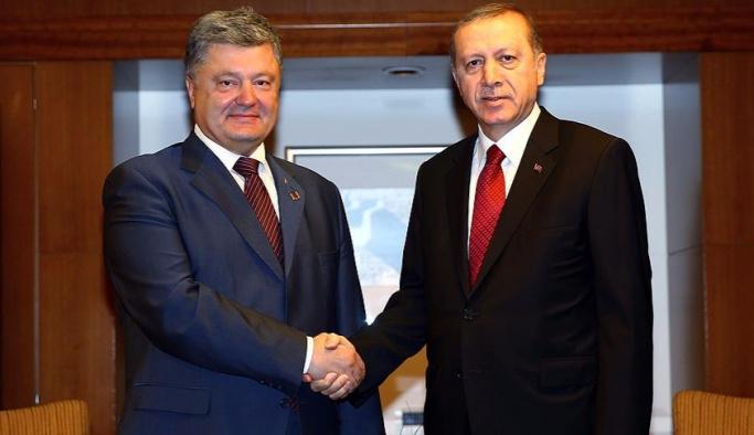 Erdoğan, Poroşenko ile bir araya geldi