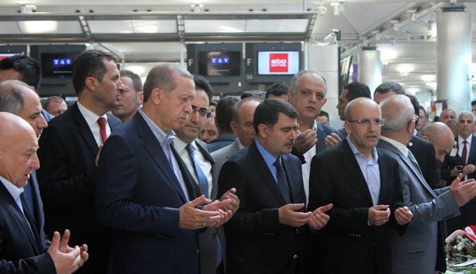 Erdoğan havalimanında incelemelerde bulundu