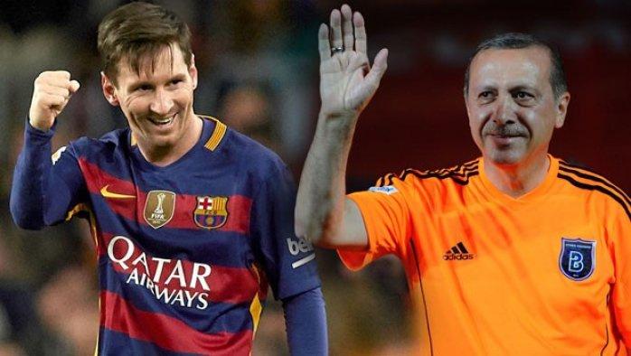 Erdoğan ile Messi aynı maçta oynayacak