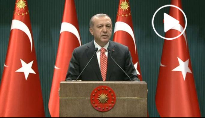 Erdoğan Beştepe'den meydanlara seslendi