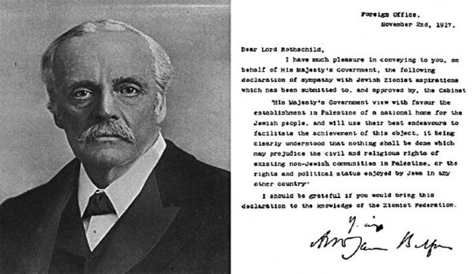 Filistin'de 'Balfour Deklarasyonu' tartışması