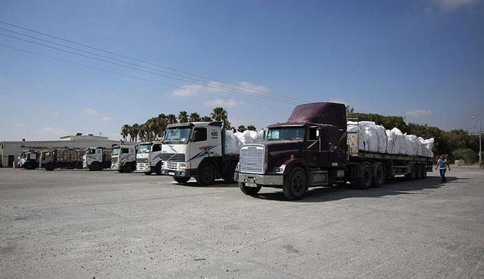 Gazze'ye 50 TIR'lık yardım daha ulaştı
