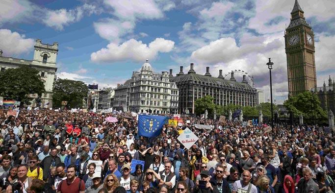 İngilizler yeni bir referandum için meydanlara indi
