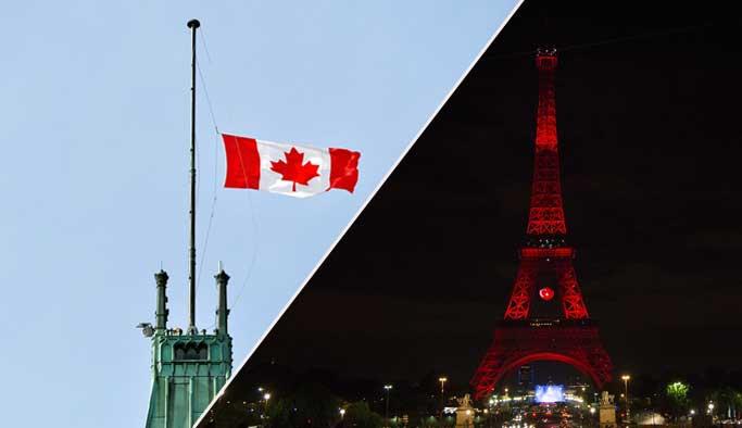 Kanada ve Fransa'dan Türkiye'ye anlamlı destek
